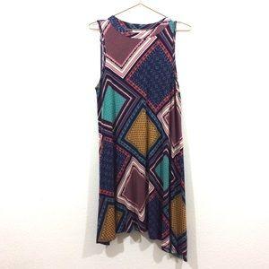 Living Doll Asymmetrical Boho Dress Size XL